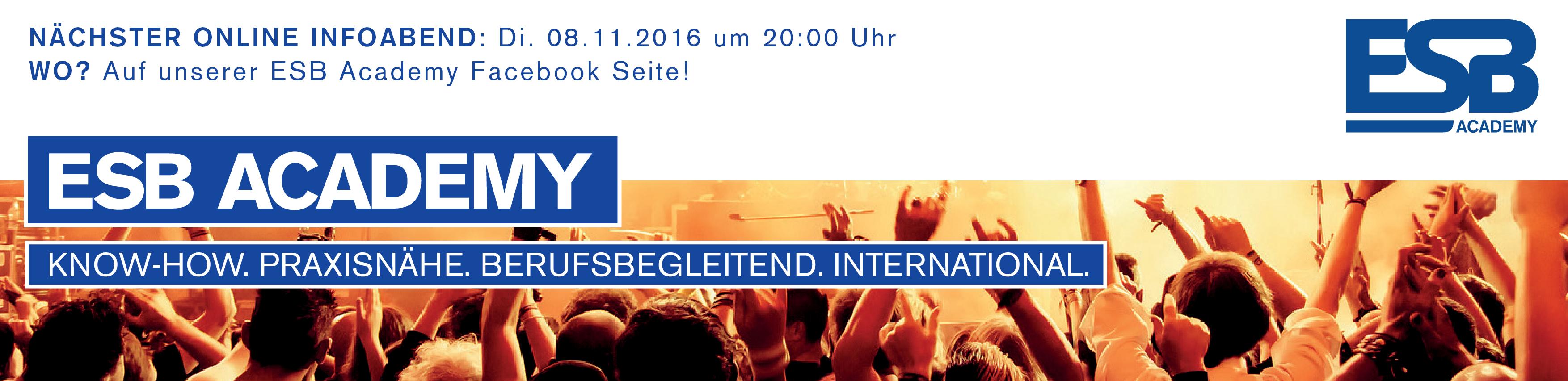 ESB Academy: Eventmanagement Ausbildung in Wien und Westösterreich (Salzburg, Tirol und Vorarlberg)