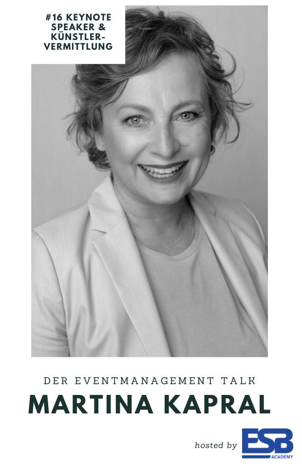 Keynote Speaker Künstlervermittlung Martina Kapral
